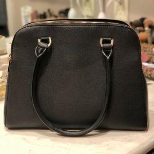 Large black satchel purse